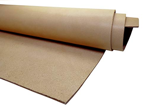 Muse Craft Leather Hides - Top Quality Full Grain Leather Square - Pre-Cut 1.9-2.1 mm Vegetable Tanned Leather Squares for Upholstery/Crafts/Tooling/Hobby Workshop (12