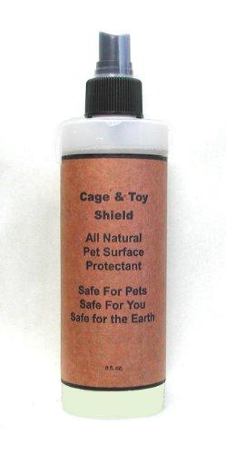 Natural Non-Stick, Habitat Surface Spray: Cage & Toy Shield with Odor Prevention for Birds, 8 oz. - Parakeet Orange Sticks