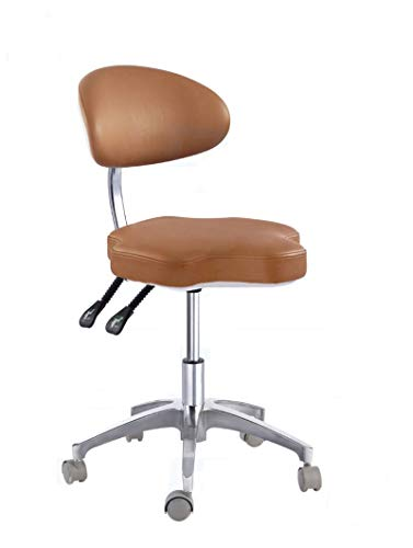 SoHome Portable Doctor's Stool Polygon Shape Dentist Chair Micro Fiber Leather Mobile Chair Height Adjustment by SoHome (Image #2)