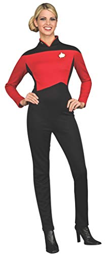 Rubie's Women's Star Trek The Next Generation Deluxe Commander Uniform Jumpsuit, Red, Small -