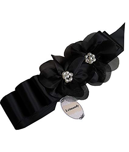 A19 Special Two Organza Pearls Wedding Belts Wedding Sashes
