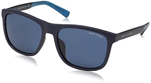 Armani Exchange Men's 0ax4049sf Square Sunglasses matte blue 53.0 mm