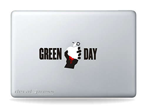 Rock Band Green Day - Sticker Decal Macbook, Air, Pro all Models - Green Day Stickers