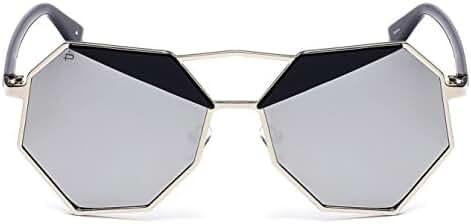 "PRIVE REVAUX ""The Activist"" Handcrafted Designer Geometric Polarized Sunglasses"
