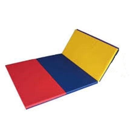 4x6 Folding Gym Mat Great for Gymnastics, Exercise, Tumbling and Bounce House Inflatable Landing Pad by TentandTable