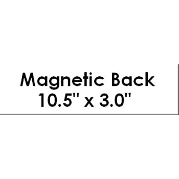 Magnetic back for bumper sticker