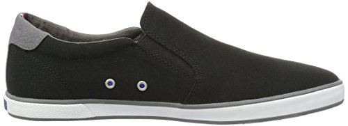 Tommy Hilfiger Herren Iconic Slip On Sneaker Schwarz (Black 990)