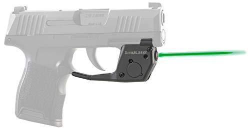 - ArmaLaser TR27G Designed for SIG Sauer P365 Ultra Bright Green Laser Sight Grip Activation