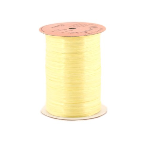 Berwick Offray 1/4'' Wide Pearlized Raffia Ribbon, Yellow, 100 - Ribbon Rayon Pearlized Raffia