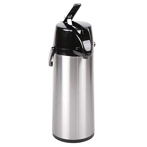 Choice 2.5 Liter Glass Lined Stainless Steel Airpot with Lever ()