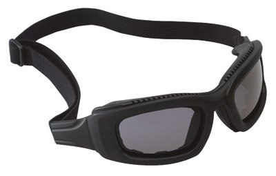 3M 2X2 Maxim Impact Air Flow Goggles With Black Full Frame, Gray Anti-Fog Lens, Elastic Strap And Air Bladder Cushion by 3M