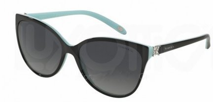 Tiffany & Co. Womens Sunglasses (TF4089B) Black/Grey Acetate - Polarized - - Polarized Sunglasses Tiffany