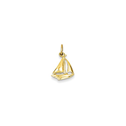 Roy Rose Jewelry 14K Yellow Gold Sailboat Charm 14k Yellow Gold Sailboat Charm