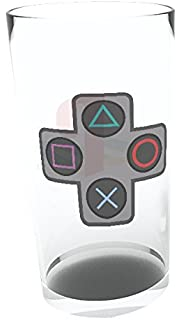 9 x 9 x 15 cm Playstation Drinking Glass Multi-Colour