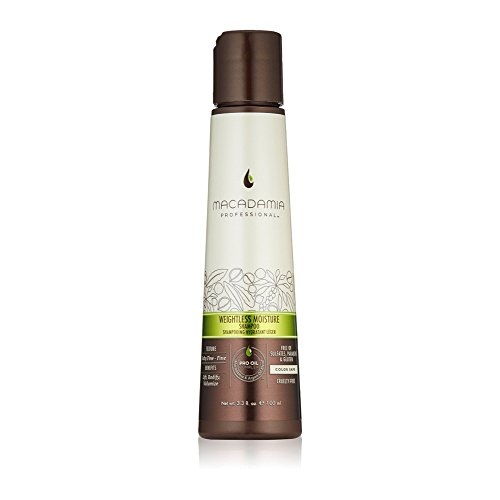 Macadamia Professional Weightless Moisture Shampoo - 3.3 oz. - Baby Fine to Fine Hair Textures - Maintains Lift & Volume - Sulfate, Gluten & Paraben Free, Safe for Color-Treated Hair