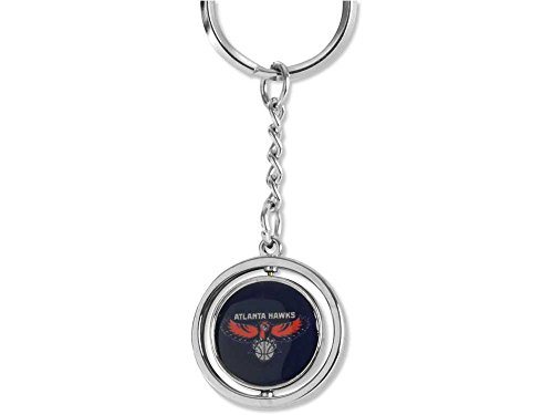 aminco NBA Atlanta Hawks NBA-KT-827-08 Spinning Keychain, One Size, Multicolor by aminco
