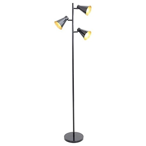 Lumisource Black Floor Lamp (WOYBR LS-L-TRESFL BK Metal Material, Tres Floor Lamp)