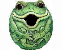 Songbird Essentials SE3880072 Frog Gord-O Birdhouse (Set of 1)