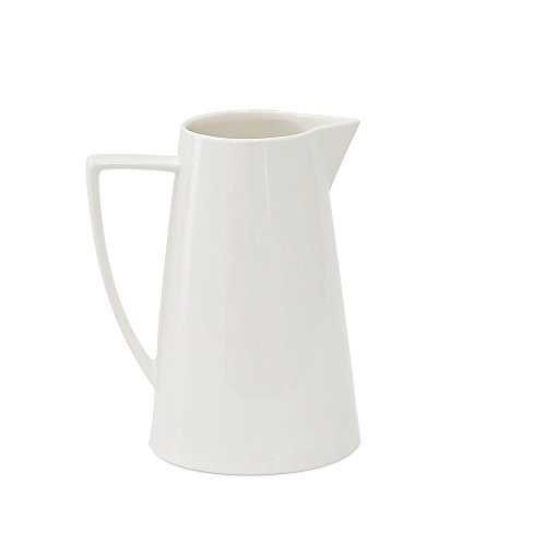 Jomop Modern Ceramic White Pitcher Water Jug 28 oz