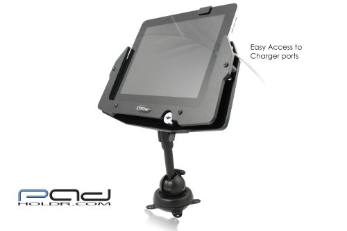 Padholdr Heavy Duty Aluminum Utility Locking Holder with Industrial Grade Mount for iPad and Other Tablets by PADHOLDR (Image #2)