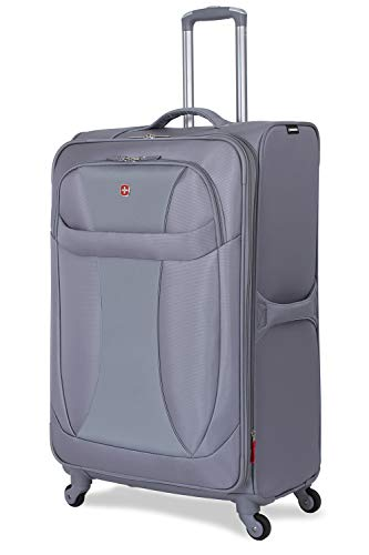SWISSGEAR 7208 Neolite Suitcase | 20-Inch Expandable Carry-on | Gray