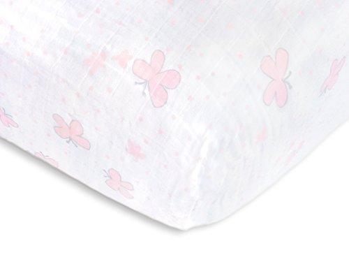 SwaddleDesigns Cotton Muslin Pastel Butterflies