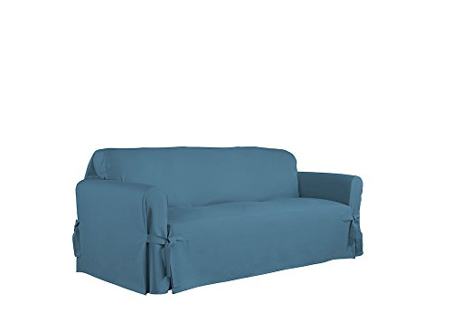 Serta Relaxed Fit Duck Furniture Slipcover for Sofa, Indigo