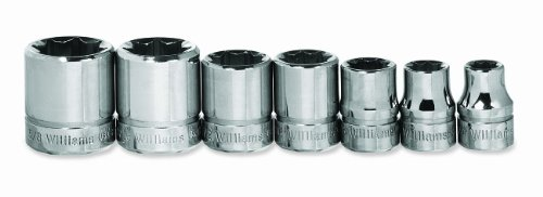Square 4 Point Socket - Williams WSBD-7RC 7-Piece 3/8-Inch Drive 8 Point Socket Set