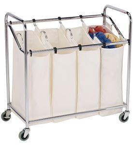 Household Essentials 6024 Four-Bag Commercial Laundry Sorter by Household Essentials