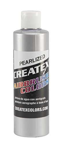 Createx Colors 5308-08 Paint for Airbrush, 8 oz, Pearl Silver ()
