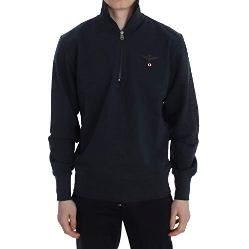 Zip Felpa Militare Aeronautica C2592 Blu Small Mem Uomo Sweatshirt wqRX4WXFg
