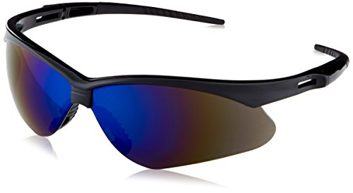 Jackson Safety 3000358 Nemesis Safety Glasses Black Frame / Blue Mirror Lens (Jackson Safety Safety Glasses)