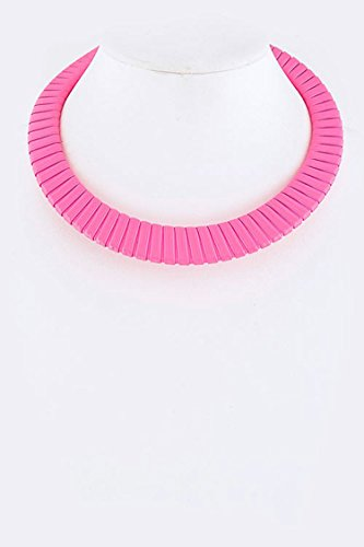 Trendy Fashion Jewelry Neon Color Choker Necklace By Fashion Destination | (Neon - Destination Fashion