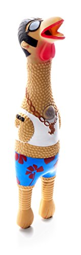 Charming Pet Earl Latex Chicken Squeaky Dog Toy - Interactive Funny Dog Toy for Awesome Pets, Large