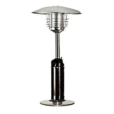 AZ Patio Heater Portable Hammered Bronze and Stainless Steel Tabletop Heater