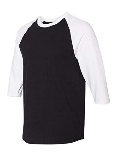 Gildan. Black/ White. 2XL. 5700. 00191675038921
