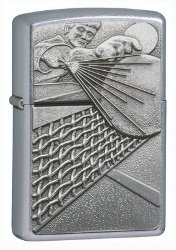 (Zippo Street Chrome Lighter, Ping Pong Surprise Emblem)