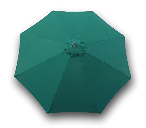 Formosa Covers 9ft Replacement Canopy 8 Ribs in Hunter Green Canopy only