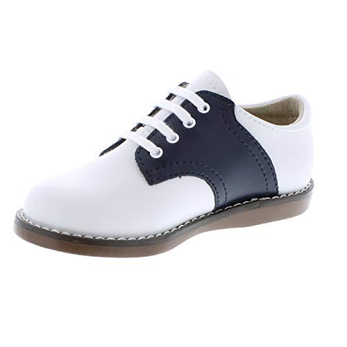 FOOTMATES Cheer Laceup Saddle White/Navy - 8401/13 Little Kid M/W by FOOTMATES (Image #5)