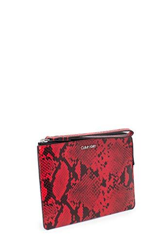 Para Mujer Al De Poliuretano Calvin Klein Hombro Bolso Rojo BawWPqS