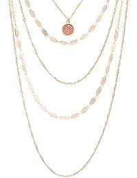 Women's Rose Gold Drape Necklace, Misc Misc
