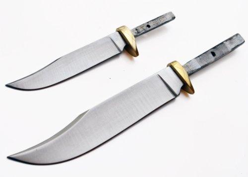 """Set of 2 Blades for Knife Making (5 1/4"""" & 7 1/2"""") Mini Hunter Blank Custom Game Hunting Blanks Skinning Knives"""