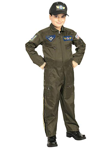 Rubies Young Heroes Air Force Fighter Pilot Child Costume, Small, One Color]()