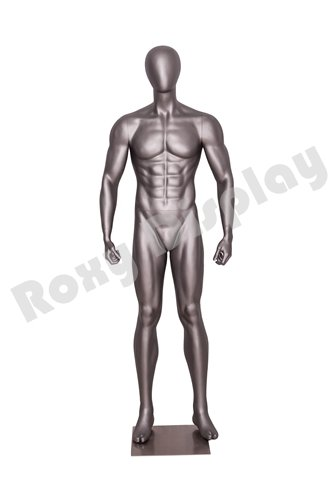 (MC-JSM03) ROXYDISPLAYTM Eye catching Male Mannequin,Athletic Style.Muscular Body. Standing Pose with arms by Sides.Dumbbell Exercises Pose.
