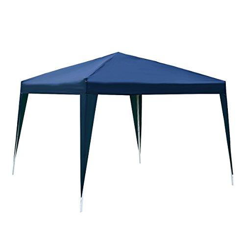 Tangkula 10'X10' EZ POP UP Canopy Tent Gazebo Wedding Party Shelter Carry Bag - Blue Gazebo