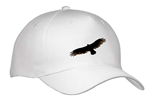 Stamp City - Birds - Photograph of a Turkey Vulture Flying Above Looking for its Next Meal. - Caps - Adult Baseball Cap (Cap_295302_1) -