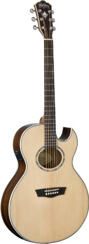 (Washburn USM-EA20SNB Nuno Signature Series Acoustic Electric Guitar, Natural )