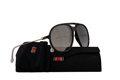 Carrera 153/S Sunglasses Dark Havana w/Green Silver Mirror Lens 60mm 086EZ CA153S CA153/S ()