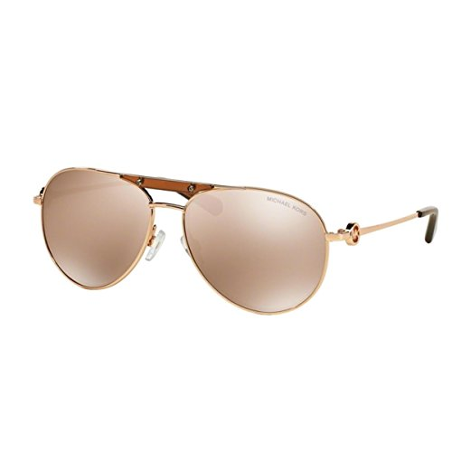 Michael Kors MK5001 1003R1 Pink Gold Zanzibar Aviator Sunglasses Lens Category