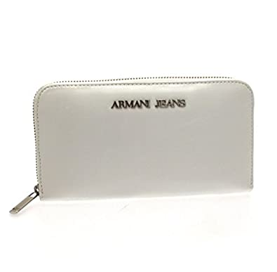 Armani ORIGINAL JEANS Cartera Zip around mujeres blanco ...
